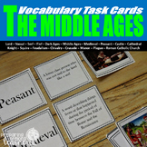 Middle Ages Vocabulary Task Cards