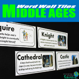 Middle Ages Vocabulary Word Wall Tiles