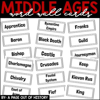 Middle Ages Word Wall