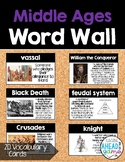 Word Wall Cards: Middle Ages