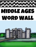 Middle Ages Word Wall, Medieval Times, Dark Ages