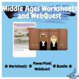 Middle Ages Worksheets and PowerPoint WebQuest Bundle Aust