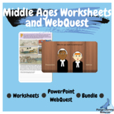 Middle Ages Worksheets and PowerPoint WebQuest Bundle Aust