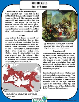 Middle Ages and Renaissance Differentiated Reading Passages