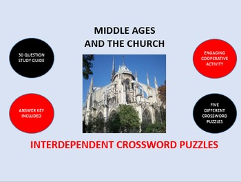 Middle Ages and the Church: Interdependent Crossword Puzzles Activity