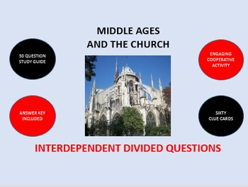 Middle Ages and the Church: Interdependent Divided Questions Activity
