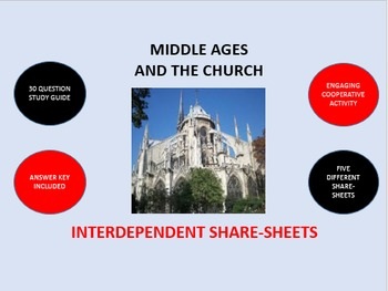 Middle Ages and the Church: Interdependent Share-Sheets Activity