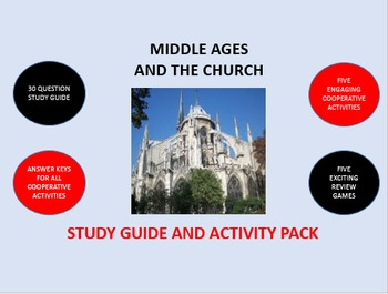 Middle Ages and the Church: Study Guide and Activity Pack