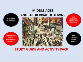 Middle Ages and the Revival of Towns: Study Guide and Activity Pack