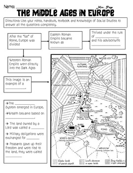 Middle Ages in Europe Skills Packet