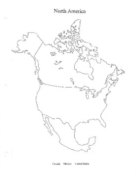 image regarding Printable North America Map identified as North The us Blank Map, CW Puzzle Attempt