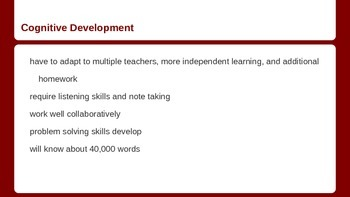 Middle Childhood Growth and Development age 10 - 12 PPt Education Professions
