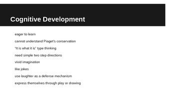 Middle Childhood Growth and Development age 5 - 7 PPt Education Professions