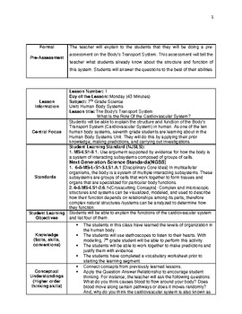 edTPA Middle Childhood Science Lesson Plan