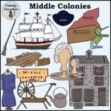 Middle Colonies Clip Art by Dandy Doodles