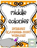 Middle Colonies Colonial America Internet Scavenger Hunt WebQuest