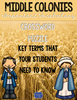 Middle Colonies Crossword