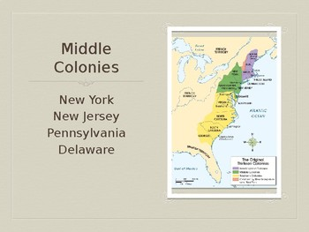 Middle Colonies Overview