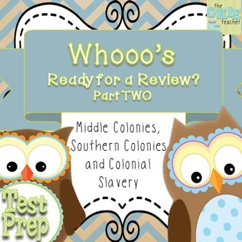 Middle Colonies, Southern Colonies and Early Colonial Slavery Review