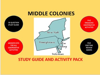 Middle Colonies: Study Guide and Activity Pack