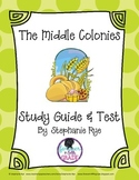 Middle Colonies Study Guide and Test