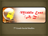 Middle East (A-Z) Vocabulary Warm-up / Bellringers (GSE-aligned)