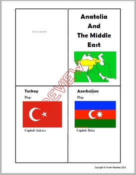Middle East/Asia Minor Lapbook
