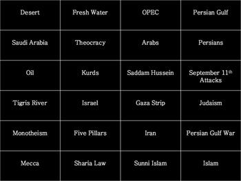 Middle East BINGO!!!