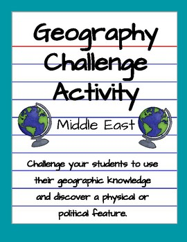 Middle East Clue Activity