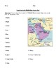 Middle East Countries: Worksheet, Homework, or Test with Answer Key