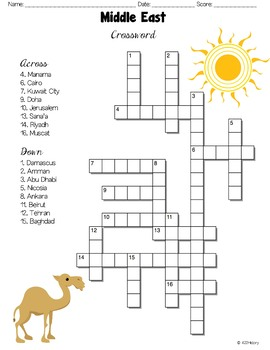 Middle East Crossword Puzzles