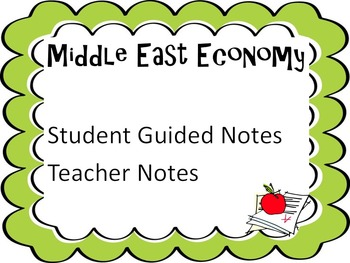 Middle East Economy Notes