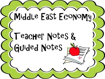 Middle East Economy Study Guide and Test