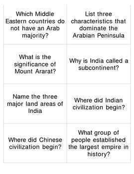 Middle East Flashcard Review