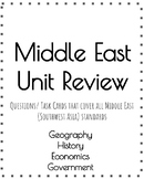 Middle East Full Unit Review Questions/ Task Cards