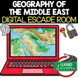 Middle East Geography Digital Escape Room, Breakout Room,