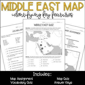 Middle East Geography Map