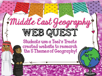 Middle East 5 Themes of Geography Webquest