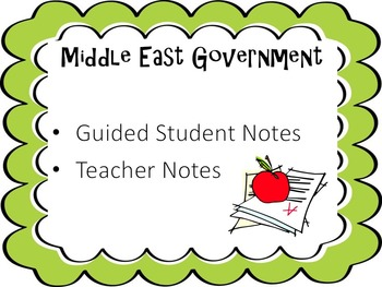 Middle East Government Notes