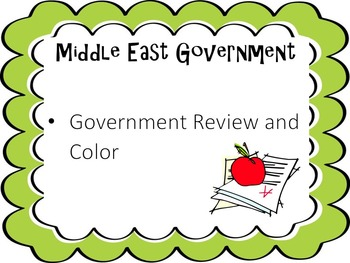 Middle East Government Review and Color