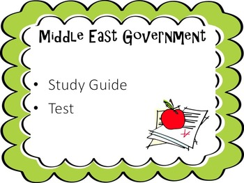 Middle East Government Test and Study Guide