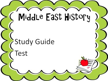 Middle East History Study Guide and Test