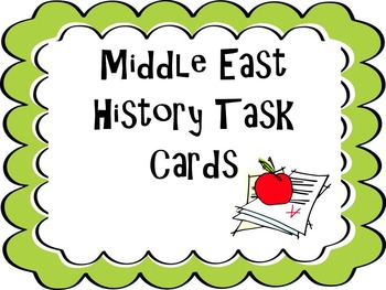 Middle East History Task Cards