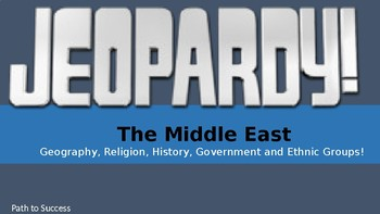 Middle East Jeopardy Game! Editable Version Included!
