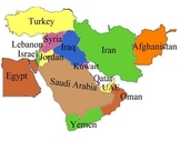 Middle East Labeling Puzzle map
