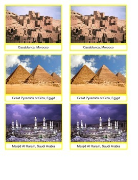 Middle Eastern Landmark Cards