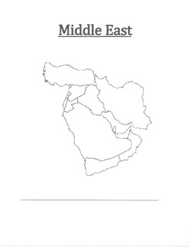 Middle East Map Blank Worksheets & Teaching Resources | TpT