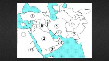Middle East Map Quiz (14 Countries and Physical Features) With Clickable  Buttons