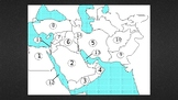 Middle East Map Quiz (14 Countries and Physical Features)