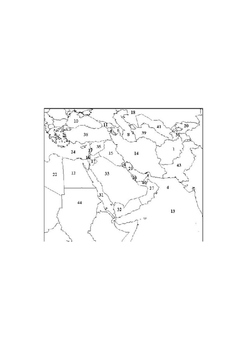Middle East Map Quiz examview in word format